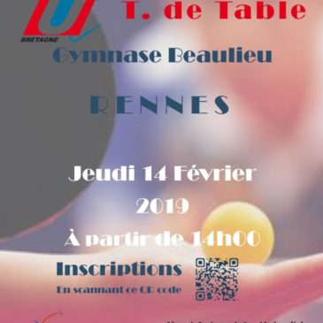 Championnat de Bretagne de tennis de table