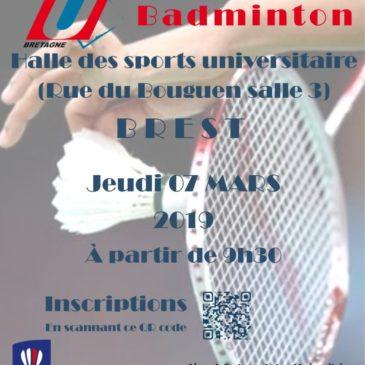 Championnat de Bretagne de badminton