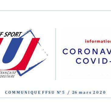 Communiqué FFSU – Covid-19
